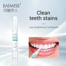 BAIMISS отбеливающая Сыворотка для зубов зубная паста зубная щетка ручка Очищающая стоматологические инструменты эссенция гель гигиена полости рта удаляет пятна от налета 5 мл