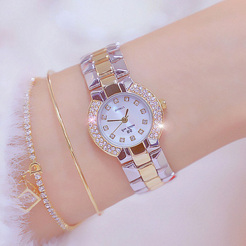 Ladies Dress Watch 2020 Luxury Brand Gold Silver Diamond Watch Women Bracelet Watch Female Stainless Steel Clock zegarek damski women bracelet watch luxury brand women dress watch rose gold steel mesh female watch rhinestone diamond black clock relojs xfcs