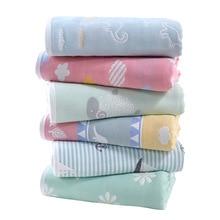 90*100cm Baby Blankets Newborn 100% Cotton Muslin Gauze Swaddle 6 Layer Baby Milestone Blanket Baby Carriage Quilt  Baby Bath