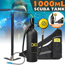 DIDEEP Scuba Diving Cylinder Mini 1L Oxygen Tank Set Respirator Air Tank With Hand Pump for Snorkeling Breath Diving Equipment(China)
