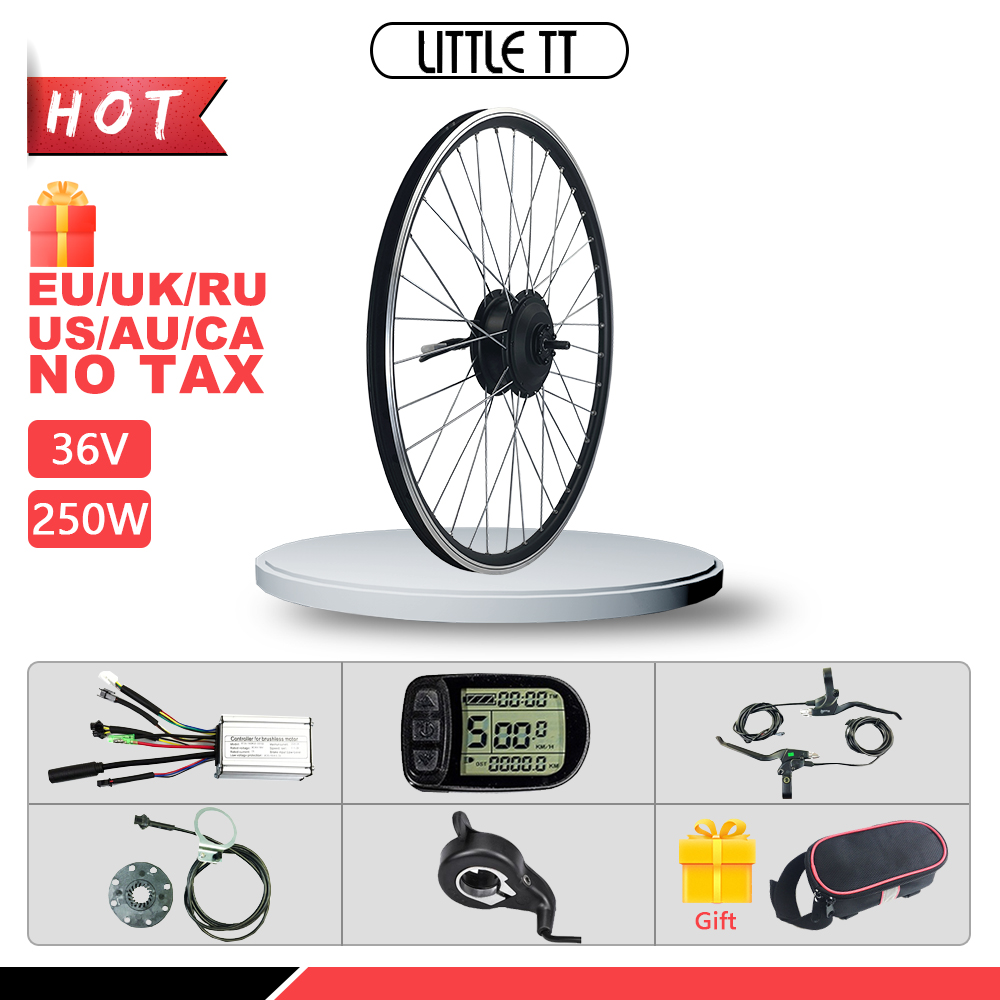 Electric Bicycle Conversion Kit 250W Front Wheel <font><b>Motor</b></font> <font><b>36V</b></font> 250W ebike Kit <font><b>motor</b></font> with Display Ebike Conversion Kit image