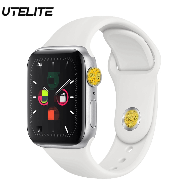UTELITE ECG <font><b>Smart</b></font> Clock Bluetooth Calling 230 mAh Large Battery Siri Fitness <font><b>Watches</b></font> <font><b>IWO</b></font> 12 Waterproof Band for Android IOS image