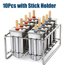 Stainless Steel Popsicle Mold Rack Ice Lolly Mold Frozen Lolly Popsicle Maker Homemade Ice Cream Mold With Popsicle Holder
