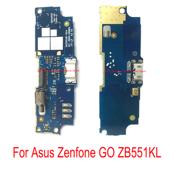 USB Charging Port Connector Dock Microphone Board Flex Cable For Asus Zenfone Go ZB551KL 5.5 Inch USB Charger Board Connect Flex image