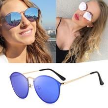 2020 New Fashion trend 3574 blaze style round sunglasses vintage retro design