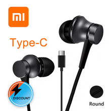 Xiaomi Original  mi piston auricular Fresh Type-C In-Ear earphones mic For samsung huawei Earphones with Mic Headset