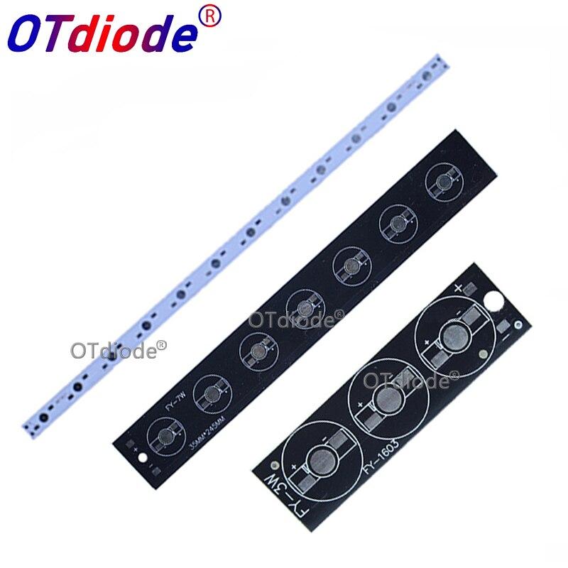 10pcs 1W 3W 5W LED Aluminum Base Plate 76mm 245mm 300mm 500mm PCB Board DIY For 3 9 12 21 10 30 36W Watt High Power Light Beads