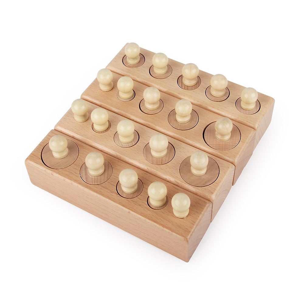 Montessori Materials Baby Wooden Toys Colorful Socket Cylinder Block For Children Educational Preschool Early Learning Toy