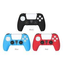 غطاء سيليكون غير قابل للانزلاق لوحدة تحكم Sony Dualshock PS5 ، غطاء واقي لعصا التحكم ، جراب تحسس مزدوج
