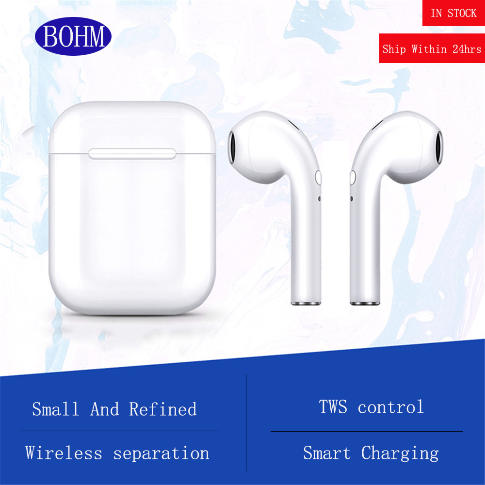 BOHM I9S Air Headphone Wireless Bluetooth 5.0 Earphone Mini Earbuds With Mic Charging Bin Sport Headset For IOS/Android Phone