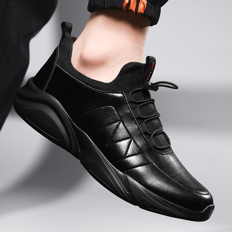 Damyuan Flexible Leather Men's Casual Shoes Comfor Zapatos De Hombre Men Shoes 46 Walking Shoes Plus Size 48 Autumn Casual Socks