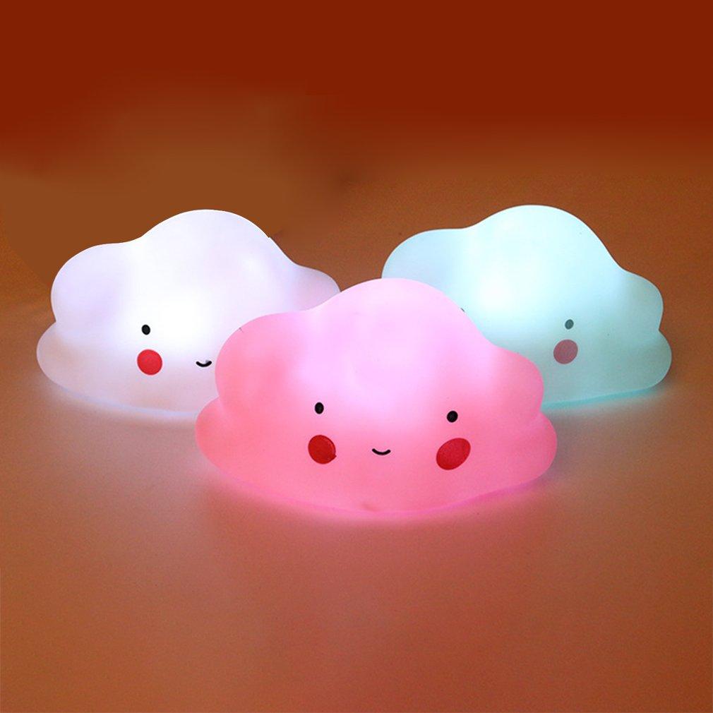 Cloud Shape Button Battery Night Light Children Light Baby Nursery Lamp Bedroom Sleep For Children Girl Toy Christmas Gift