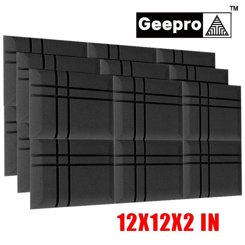 Акустическая пена Geepro 300x300x50 мм 3D, звукоизоляционная Защитная губка, Звукопоглощающая обработка, акустические панели
