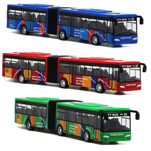 1:64 Scale 18cm small pull back bus children's metal diecast model vehicle motor auto cars toys baby gift for kids boys(China)