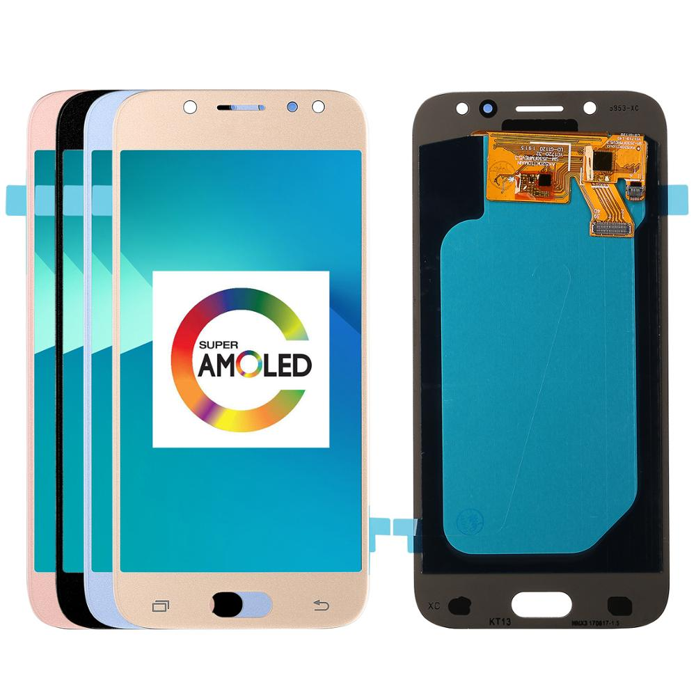 Super Amoled <font><b>LCD</b></font> For Samsung Galaxy <font><b>J5</b></font> 2017 J530 J530F <font><b>LCD</b></font> Display Touch Screen Digitizer Assembly <font><b>lcd</b></font> for <font><b>J5</b></font> <font><b>Pro</b></font> 2017 <font><b>J5</b></font> Duos image