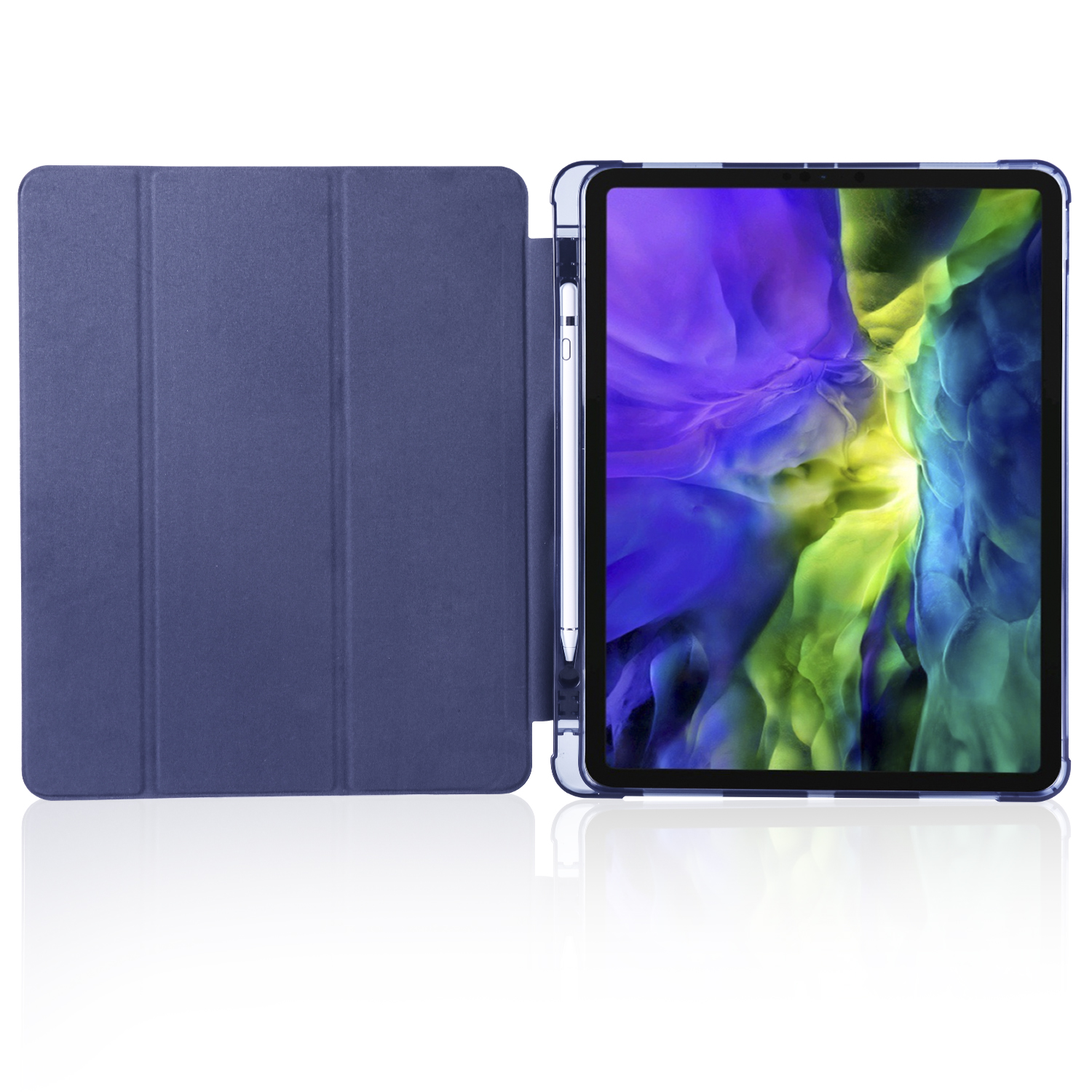 Pen Soft 12.9 Generation 2020 iPad Smart 2018 with Pro 4th 3rd Case Slot for Shockproof