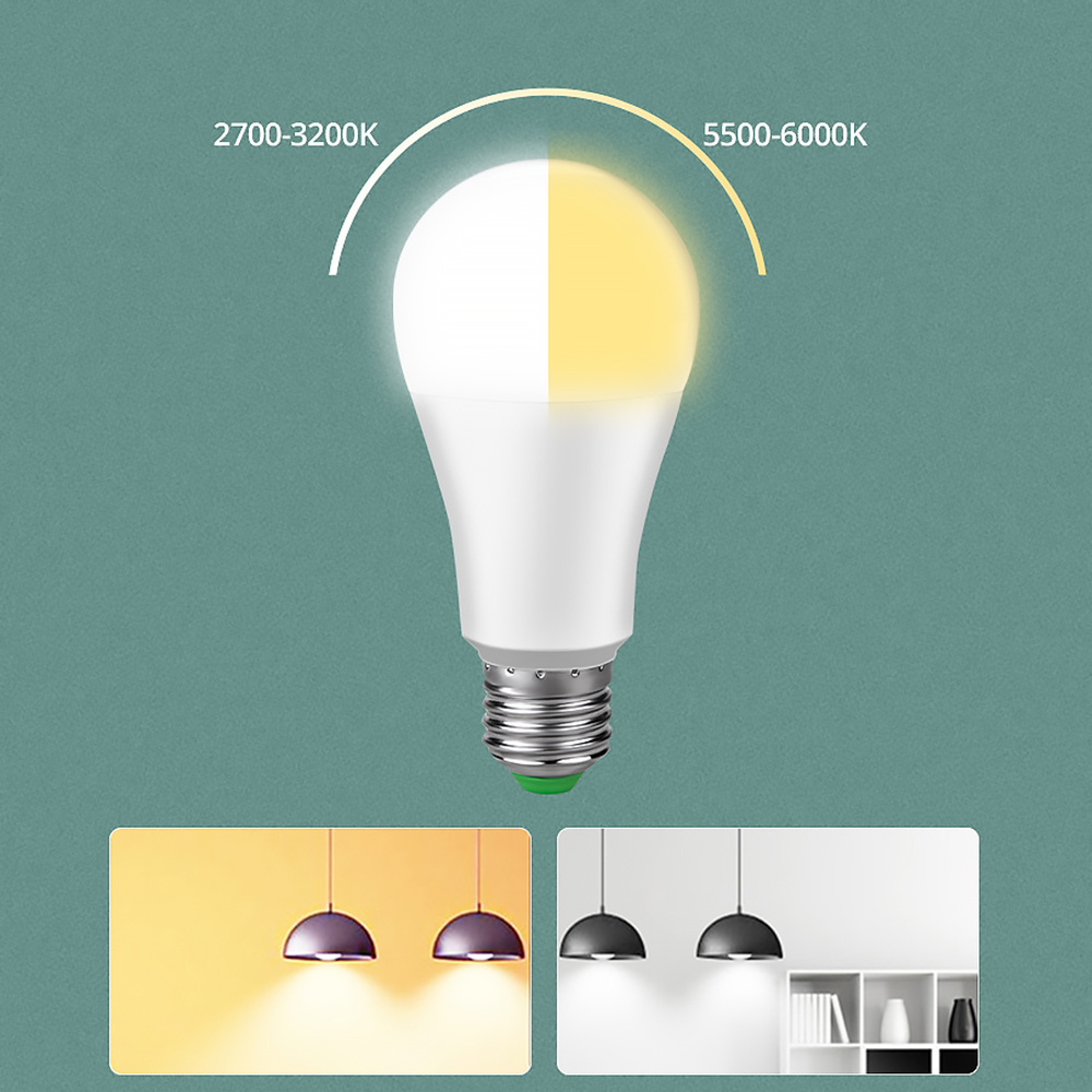 E27 B22 WIFI Smart LED Bulb 15W Intellegent Warn Lighting Dimmable LED Lamp App Control Work With Alexa Google Assistant