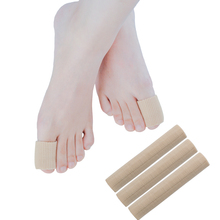 Sumifun 15cm Finger & Toe Protectors Fabric Gel Tube Bandage Foot Feet Pain Relief Guard For Feet Care Insoles Massage Health 1pair high quality toe socks finger separator massage sleeping health foot care relaxing compression sock foot pain relief