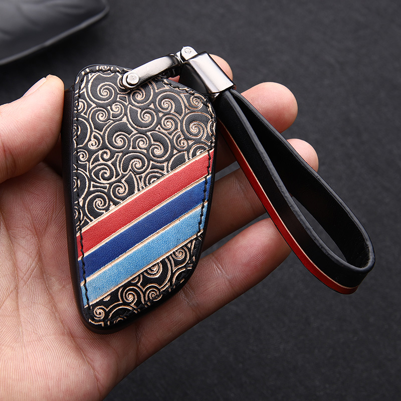 High Quality Car Genuine Leather Key Case For BMW X1 X3 X5 X6 Series 1 2 5 7 F15 F16 E53 E70 E39 F10 F30 G30 key Shell Cover