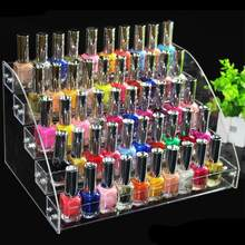 Hot Sale!! Multi-Lapisan Transparan Acrylic Nail Polish Rack Pernis Display Stand Pemegang(China)