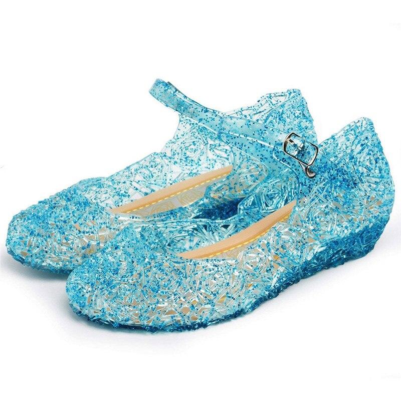 Сандалии для девочек, детская обувь, сандалии-желе на танкетке принцессы, женская обувь для гнезда, ажурные сетчатые туфли на плоской подошв...
