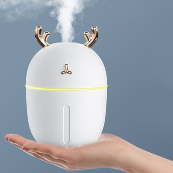 Ultrasonic Mini Air Humidifier 300ML Aroma Essential Oil Diffuser for Home Car USB Fogger Mist Maker with LED Night Lamp image