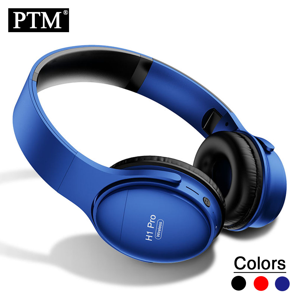 PTM Wireless Headphones Bluetooth Headsets Over ear Foldable Headphone with Mic Bluetooth 5.0|Bluetooth Earphones & Headphones| |  - title=
