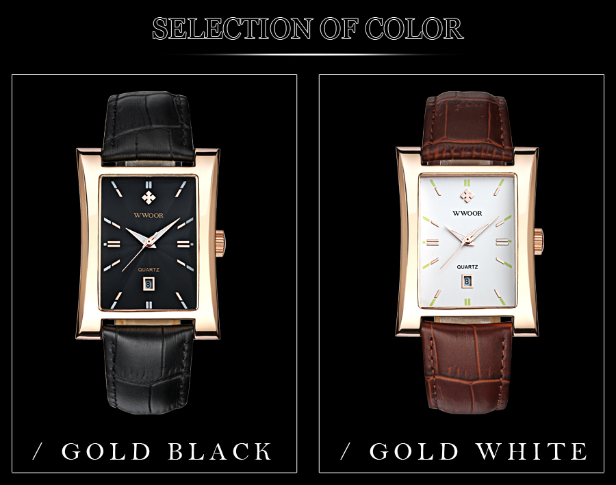 preto pulseira de couro quartzo relógio à