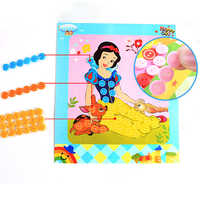 kids Puzzle Toys 12pcs/lot Button Puzzle Stickers Kindergarten toy Handmade DIY Toy For Children Montessori Learning & Education