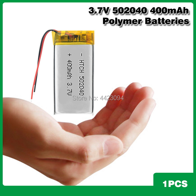 <font><b>3.7V</b></font> <font><b>400mAh</b></font> 502040 Rechargeable Lithium polymer <font><b>Battery</b></font> For MP3 MP4 MP5 PSP GPS Toy Driving Recorder Bluetooth headphone speaker image