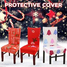 Printing  Chair Cover Stretch Elastic Slipcovers Protector Dust-proof Dining Covers Banquet Hotel Christmas Decor