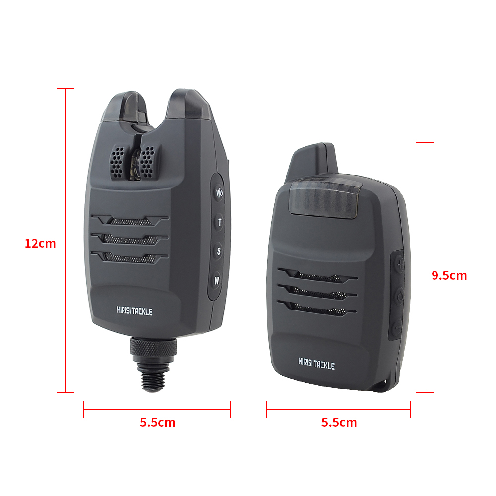 1+4 Carp Fishing Alarm Set Sounds and LED Alarming Wireless Fishing Bite Alarm Indicator Electronic with Snag Ear Bar B1228-2