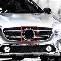 185mm Mirror Black Chrome Star Emblem Car Styling Middle Grille Logo LED Emitting Light Decoration for Mercedes Benz C E GLA GLK