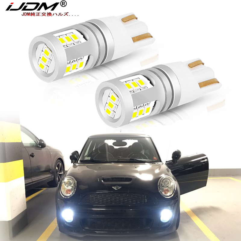 IJDM White W5W LED Lights Error Free Canbus 12V-32V 168 T10 LED For BMW Mini Cooper F54 F55 F56 R52 R53 R55 R56 Parking Lights