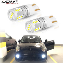 Ijdm branco w5w luzes led canbus livre de erros 12v-32v 168 t10 led para bmw mini cooper f54 f55 f56 r52 r53 r55 r56 luzes de estacionamento