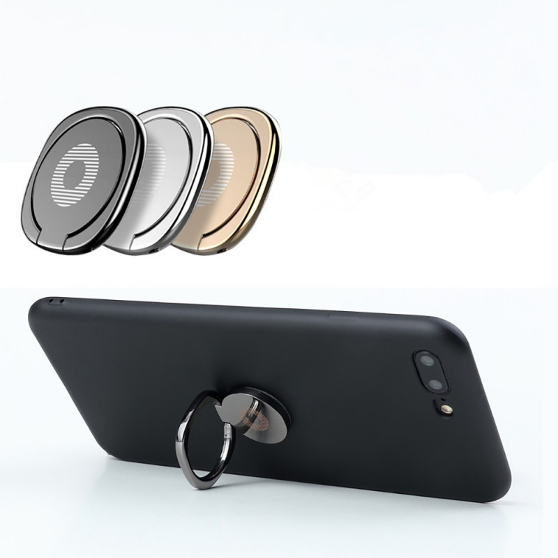 Metal Mobile Phone Socket Holder Universal 360 Degree Rotation Finger Ring Holder Magnetic Car Office Bracket Stand Accessories image