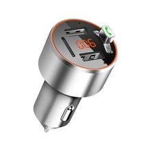 цена на C68 Fashion Mini Car Mp3 FM Transmitter Bluetooth Portable MP3 Music Player Car FM Launch MP3 Support U Disk USB TF Card