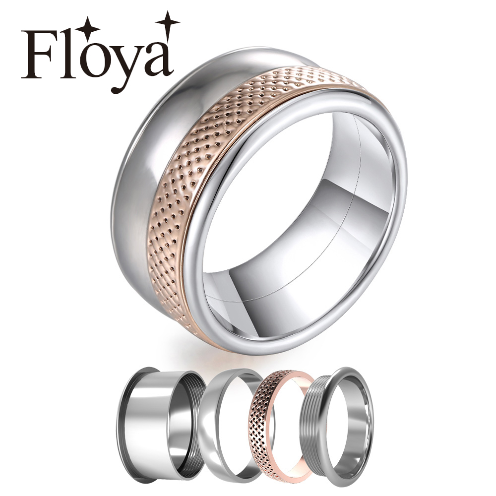 Cremo Knit Stackable Rings Women Elegant Multi Stainless Steel Band Statement  Love Layers Ring Personalized Anillos