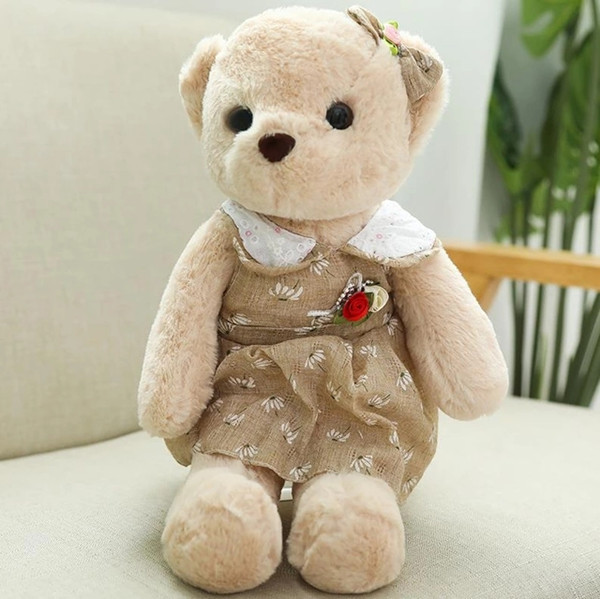 Hot Toys 40CM Kawaii Huge Teddy Bears Plush Toys Stuffed Animals Fluffy Bear Dolls Soft Kids Toys
