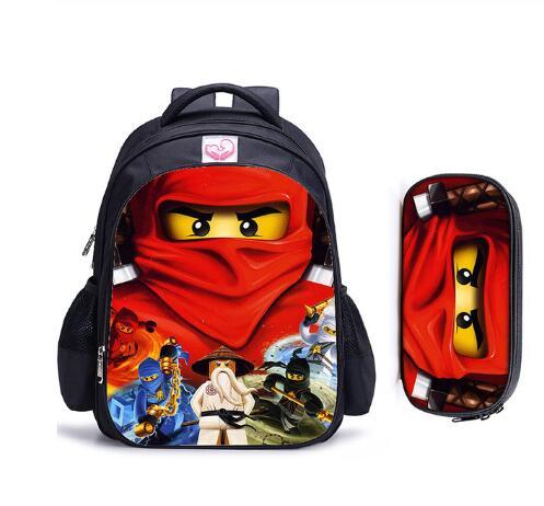 16 Inch Lego Ninjago School Bag For Boys Girls Lego Movie Cartoon Backpack Children School Set Schoolbag Kids Gift