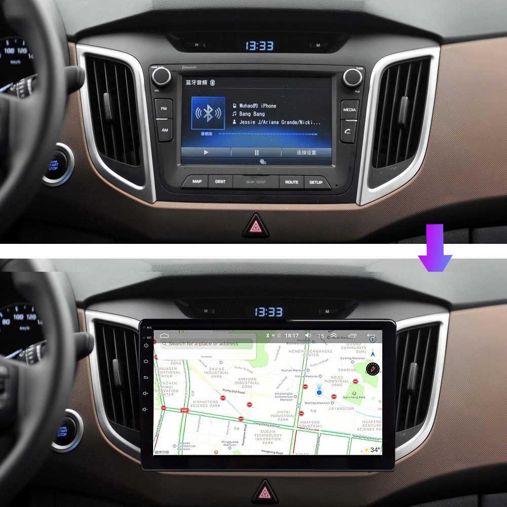 OKNAVI multimedya araba Hyundai Creta için IX25 2015-2018 sesli gps navigasyon Android 9.0 No 2 Din Dvd çerçeve 12 ters kamera ters