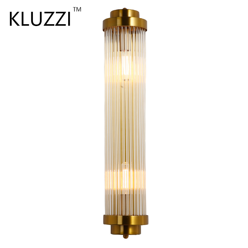 KLUZZI Golden Luxury European LED wall light Golden crystal wall lamp hotel living room Rotatable crystal lamp outdoor wall lamp