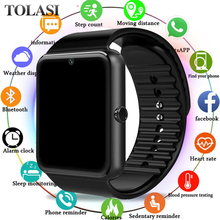 Smart Watch Men GT08 With Touch Screen Big Battery Support TF Sim Card Camera For IOS  Android Phone Watch Women smartwatch dhl free shipping kw18 smart watch phone with sim tf card mp3 smartwatch for android ios smartphone 340mah battery 1 3 ips