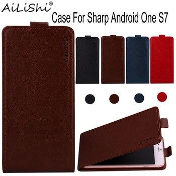 Перейти на Алиэкспресс и купить AiLiShi чехол для Sharp Android One S7 роскошный флип-чехол из кожи высшего качества эксклюзивный 100% защитный чехол для телефона + отслеживание