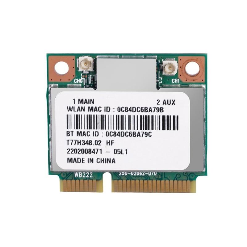 AR5B22 300Mbps WiFi Card,2.4G/5Ghz Dual Band Bluetooth 4.0 Mini PCI-E Wireless Card