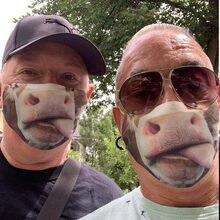 Adulto máscaras de boca + 1 pçs filtro engraçado boca vaca impresso rosto máscaras navio da gota ao ar livre mascarillas rosto escudo máscaras faciais