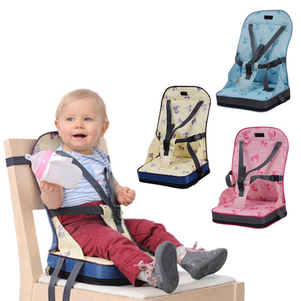 Baby Dining Chair Bag Baby Portable Seat Oxford Water Proof Fabric Infant Travel Foldable Safety Belt Feeding High Chair