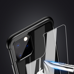 Image 3 - Armor Metal Bumper Case For iPhone 11 Pro Max Case Pull Plus Tempered Glass Highly Shockproof Cover For iPhone 11 Pro Coque Case