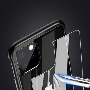 Image 3 - Custodia paraurti in metallo per armatura per iPhone 11 Pro Max custodia Pull Plus in vetro temperato Cover altamente antiurto per iPhone 11 Pro custodia Coque