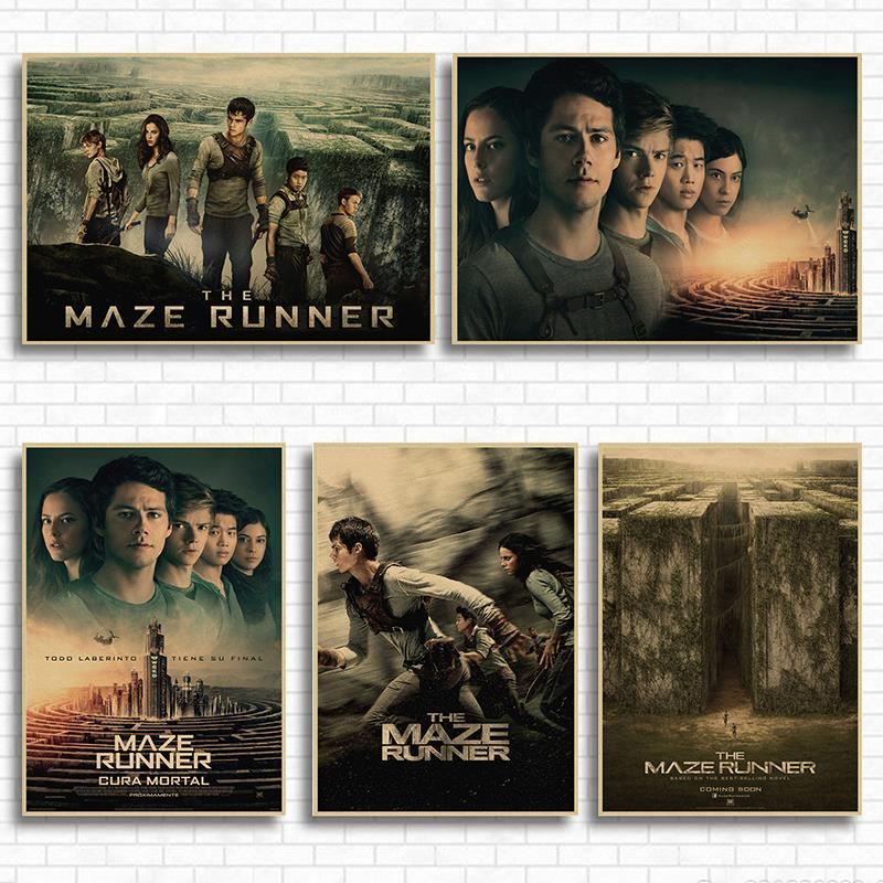 Adventure Movie The Maze Runner kraft paper retro poster wall decorative painting retro art painting image